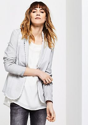 Lightweight casual blazer in a vintage look from comma