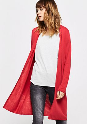 Casual long cardigan with fine details from s.Oliver