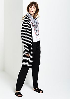 Lightweight long cardigan with a striped pattern from s.Oliver