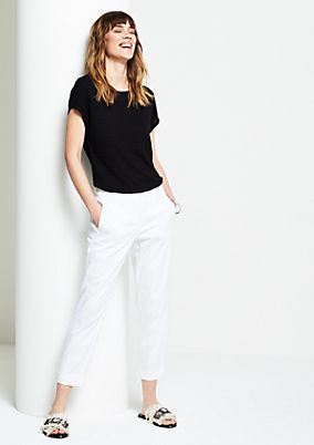 7/8-length casual trousers from comma
