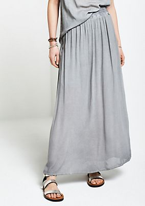Summery crêpe skirt in a vintage wash from comma