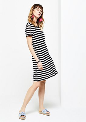 Summer dress with a decorative striped pattern from s.Oliver