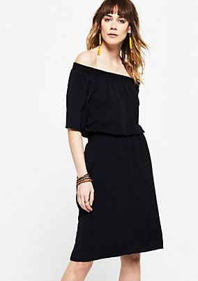 Lightweight dress with a Carmen neckline from s.Oliver