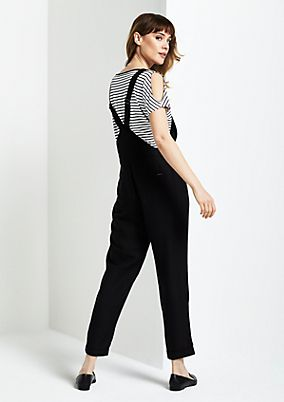Casual dungarees in waffle piqué from comma