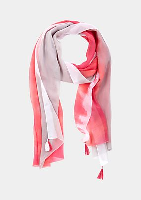 Delicate chiffon scarf with decorative graduated colours from s.Oliver
