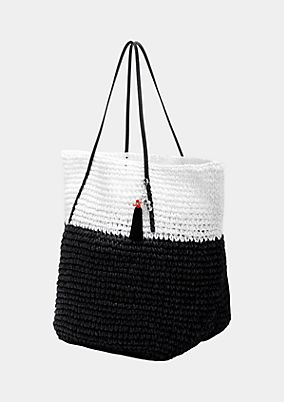 Voluminous shopper bag in a braided look from s.Oliver
