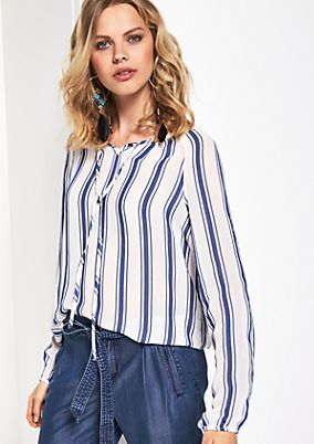 Delicate long sleeve blouse with a striped pattern from comma