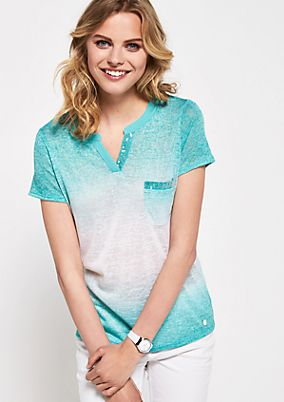 Short sleeve knit top with elegant colour graduations from s.Oliver