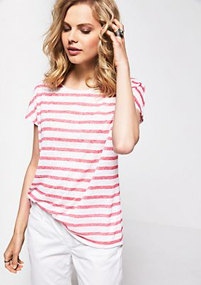 Casual knit top in a striped look from s.Oliver