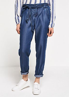 Lightweight summer trousers in a denim look from s.Oliver