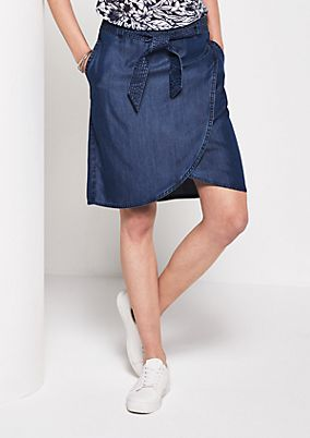 Short summer skirt in a denim look from s.Oliver
