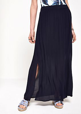 Long chiffon skirt with fine details from comma