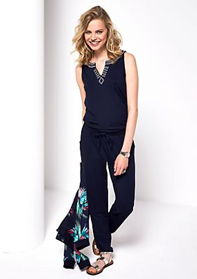 Jumpsuit with decorative sequins from s.Oliver