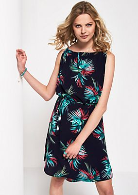 Zartes Kreppkleid mit Floral-Alloverprint