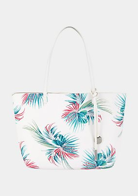 Voluminous shopper with a floral pattern from s.Oliver