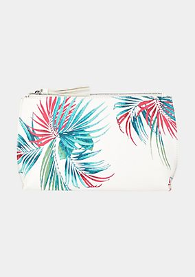 Evening bag with a summery floral print from s.Oliver