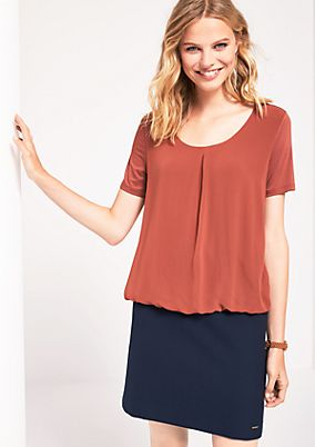 Short sleeve top in a sophisticated mix of materials from s.Oliver