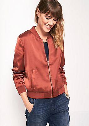 Classic shiny satin bomber jacket from s.Oliver