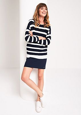 Knit jumper in a layered look with 3/4-length sleeves from comma