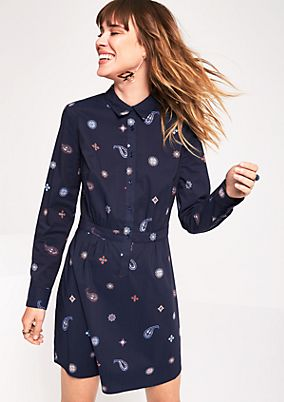 Lightweight shirt dress with a pattern from comma