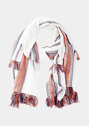 Lightweight scarf with fringing from s.Oliver