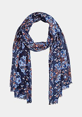 Delicate scarf with a colourful all-over pattern from comma