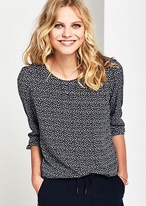 Long sleeve blouse with a decorative minimalist print from comma