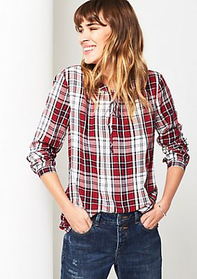 Casual long sleeve blouse in a checked look from s.Oliver