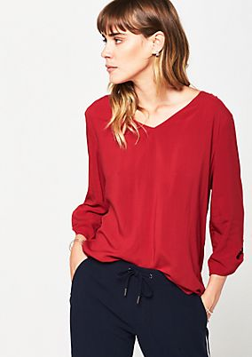 Lightweight blouse with 3/4-length sleeves from s.Oliver