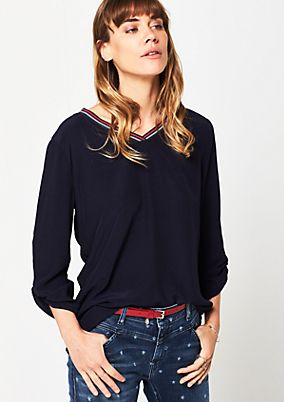 Crêpe blouse with 3/4-length sleeves from s.Oliver