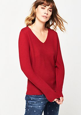 Classic knit jumper with a rib knit finish from comma
