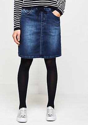 Short skirt in a denim look from comma