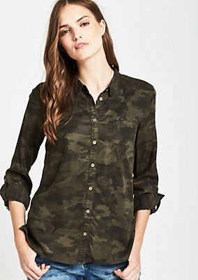 Casual blouse with a sophisticated garment wash from s.Oliver