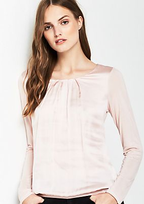 Long sleeve top in a sophisticated fabric blend from s.Oliver