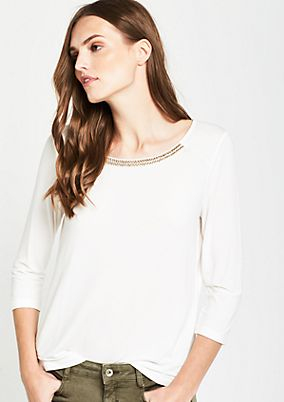 3/4-sleeve decorative jersey top from s.Oliver