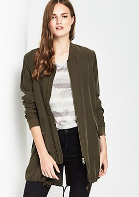 Lightweight parka in an army look from comma