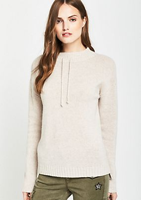 Casual knit jumper with ties from comma