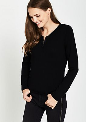 Soft knit jumper with a zip from comma