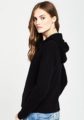 Casual cardigan with hood from comma