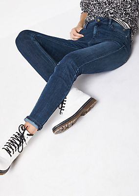 Jeans with a vintage wash from s.Oliver