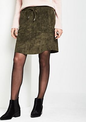 Extravagant mini skirt in faux suede from s.Oliver
