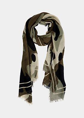 Strickschal mit Camouflage-Muster