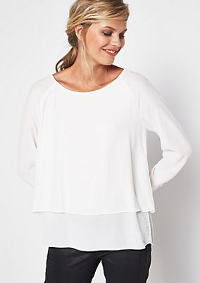 Fine crêpe blouse in a layered look from s.Oliver