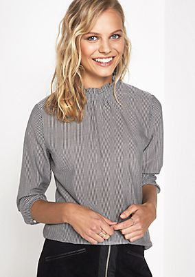 Elegant business blouse with a vertical stripe pattern from comma