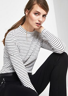 Long sleeve top in sporty rib from comma