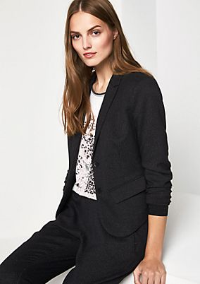Blazer with an exciting dobby texture from comma