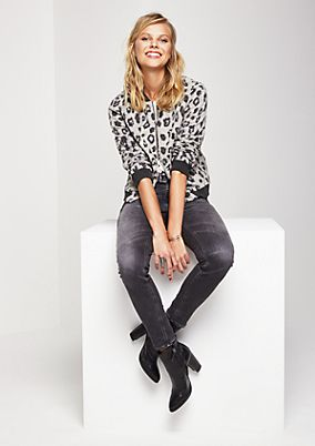 Casual bomber jacket with a leopard print pattern from comma