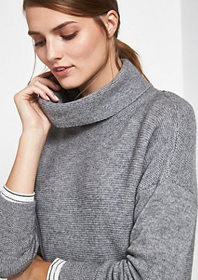 Cardigan with a high polo neck from comma