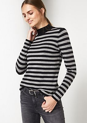 Knit jumper with fine details from comma