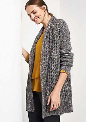 Cosy cardigan with glitter yarn from comma